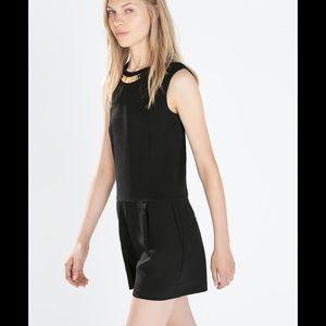 Zara Dresses Womens Black Romper Suit Poshmark