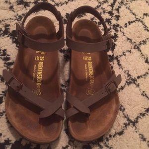 1ac7070f331 Birkenstock Shoes - Birkenstock Taormina in mocha color size 39  rare