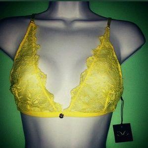 Monika Chiang Other - Monika Chiang NWT Yellow Lace Bralette