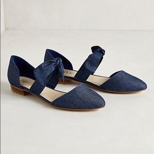 Anthropologie Shoes - Anthro Ribbon Tie Flats