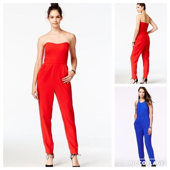 1e74efe5c91b Rachel Roy Strapless Jumpsuit in Royal Blue. M 578c2570d14d7beeab012c86