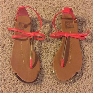 Dolce Vita pink/gold sandals!
