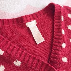 Tulle Sweaters - Red heart cardigan