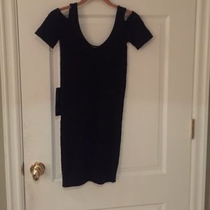 Bebe mini dress with shoulder cut outs