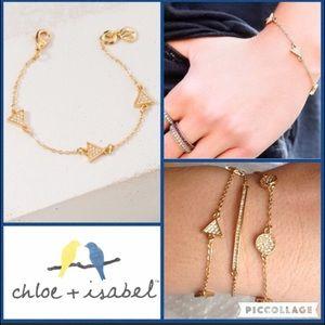 Chloe + Isabel Jewelry - Pavé Triangle Station Bracelet