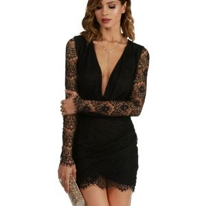 Windsor Deep V Lace Dress