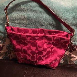 Pink small Coach shoulder bag