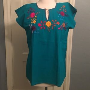 Handmade Mexican shirt 100% cotton