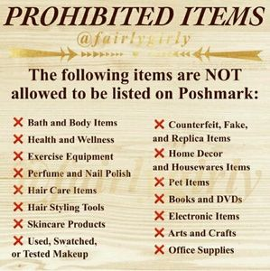 Other - Poshmark Prohibited vs Allowed Items!