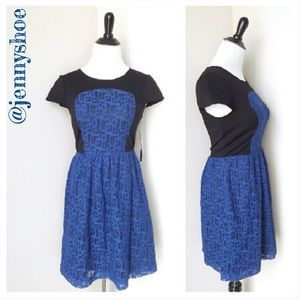 {kensie} blue lace dress