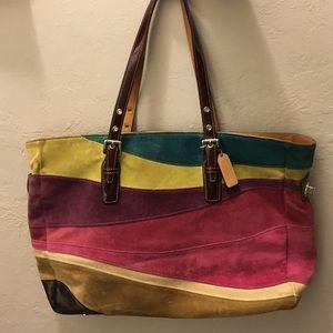 Coach Handbags - 💯 Authentic COACH suede shopper