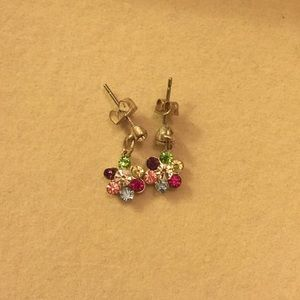 Flower dangly studs