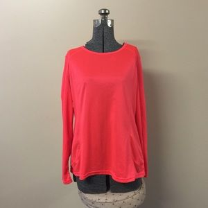 Xersion Tops - Xersion Longsleeve Top Hot Neon Coral Pink