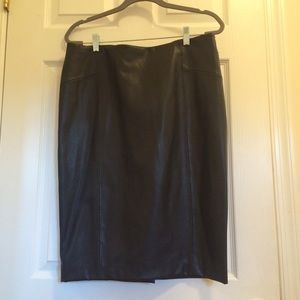 Zara Faux-Leather Pencil Skirt