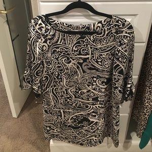 Joie print silk dress