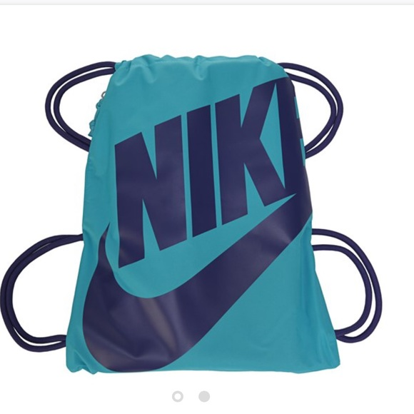 33% off Nike Handbags - Blue and purple Nike drawstring bag from ...