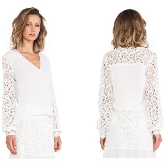 aa361cd5 Alexis Tops | White V Neck Crochet Lace Top | Poshmark