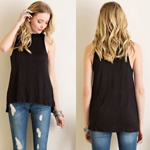 Tops - The Marlie Black Ribbed Top