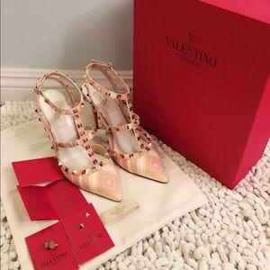 Valentino Shoes - Valentino Leather Rockstud 1975 Heels Multicolor