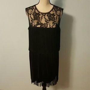 Xscape Dresses & Skirts - SALE! Xscape Black Retro Tassel & Lace Dress