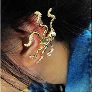 Cute Gold Octopus Ear Cuff