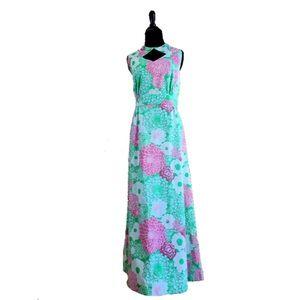True Vintage 1960's Floral Maxi Dress