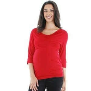 Everly Grey Tops - Maternity blouse