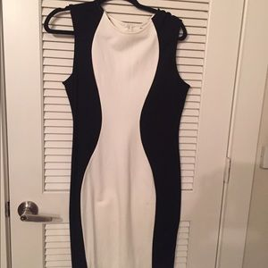 SheIn black and white fitted dress