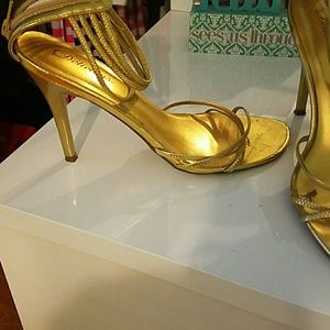 Gold heels (Worn once)