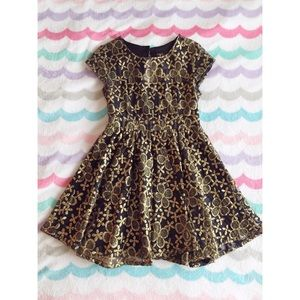ModCloth gold and black party dress