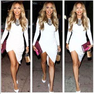 House of CB Dresses & Skirts - White Drape dress