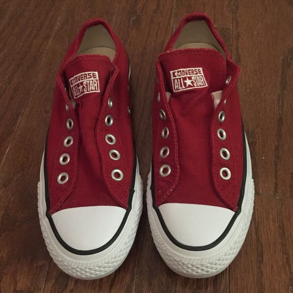 acc65b2b4664 Dark Red Converse Chuck Taylor Slip On Sneakers