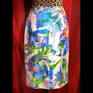 Sunny Leigh Flowery Pencil Skirt