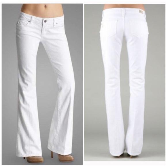 95% off Paige Jeans Denim - Paige laurel canyon white Bootcut ...