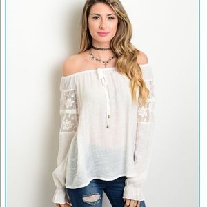 Tops - The • Lacey • Off Shoulder Tunic