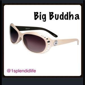 Big Buddha Accessories - Big Buddha Cream Studded Sunnies