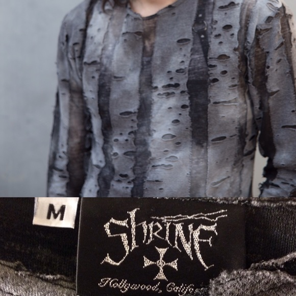 Shrine Sweaters - Shrine of Hollywood Distressed Zombie Top Sweater