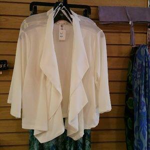 Jackets & Blazers - Ivory (white) layered blazer