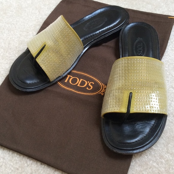 Tod's Thong Slide Sandals low price fee shipping cheap online vEq1O