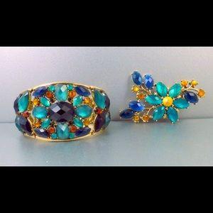 Claiborne Bracelet & Brooch Set