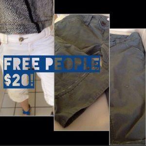 CLOSING SALE Free People Capris Pants-Slate