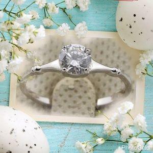 Jewelry - Beautiful size 4.5 white gold filled CZ ring