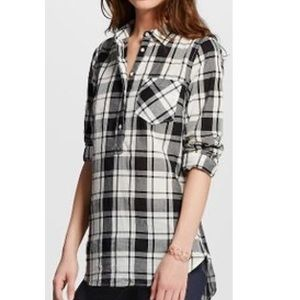 Target Merona Favorite Plaid Tunic Shirt