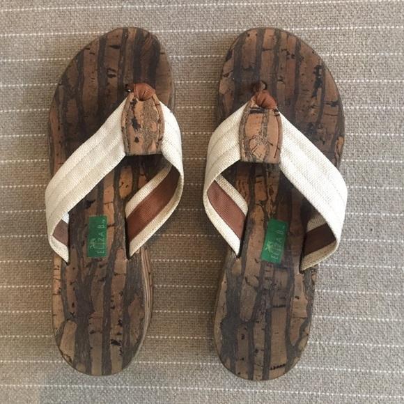ba3f4adff Eliza B Shoes - Eliza B cork flip flops size 9