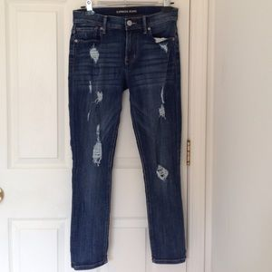 Express Mia Distressed Cropped Jeans