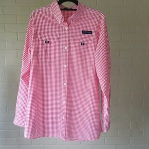 Simply Southern  Tops - Simply Southern Pink Gingham button Down