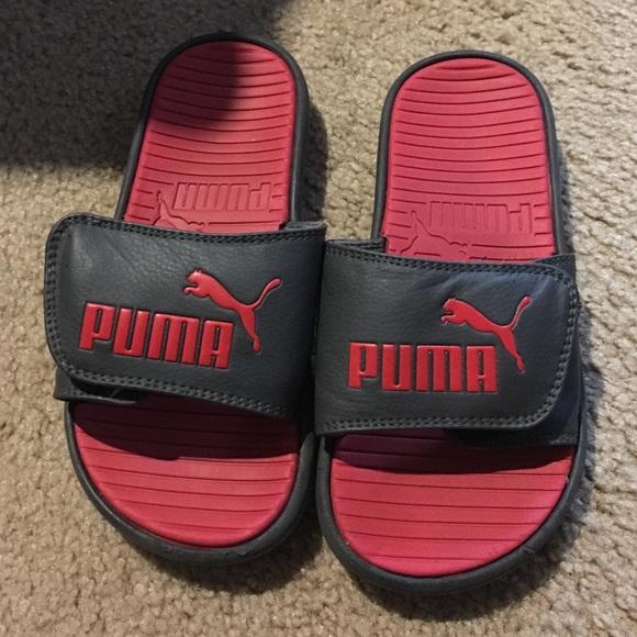 Puma Shoes   Puma Velcro Slides   Poshmark