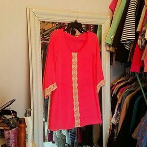 Tops - Pink blush maternity tunic sz small