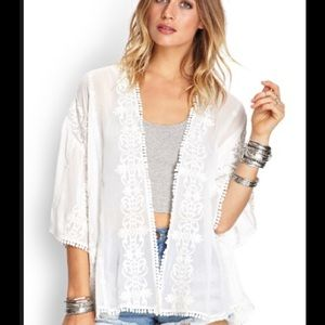 Forever 21 Tops - Embroidered/embellished kimono