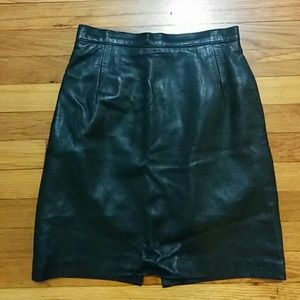 Maxima Dresses & Skirts - Maxima for Neiman Marcus black leather skirt